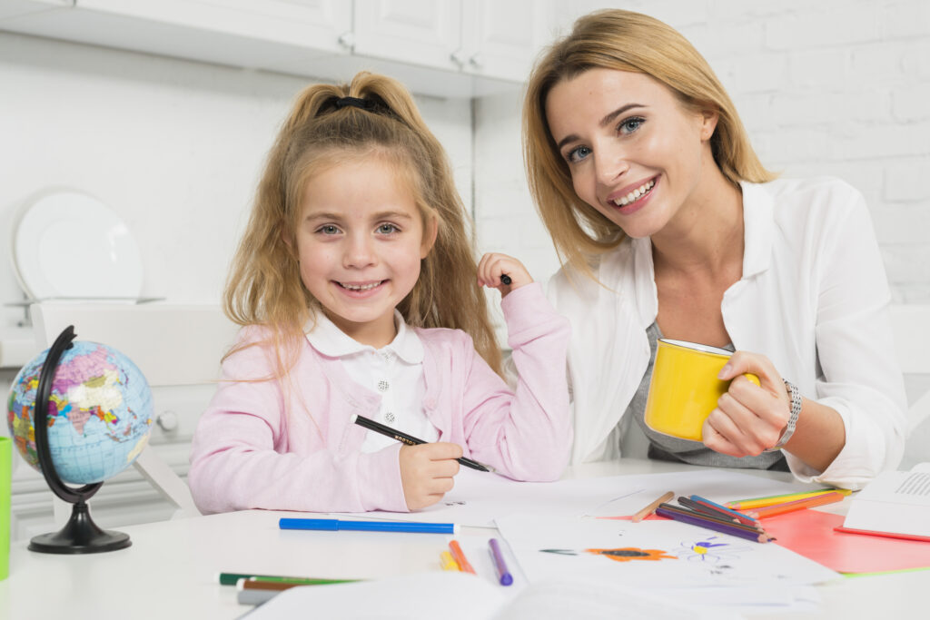 educación en cuarentena para padres y niños en casa